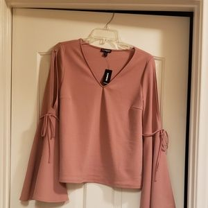 Express boho top with bell sleeves